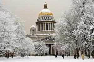 Заснеженный Петербург