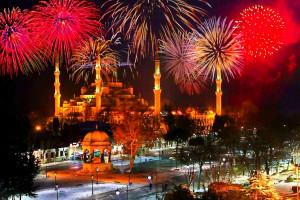 Новогодние огни Стамбула